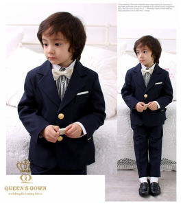 2016 New Slim Wedding Children Boy Party Suit, Tailored