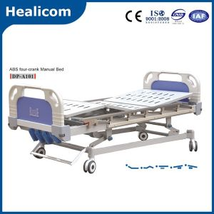 High Quality ABS Four-Crank Five Function Manual Hospital Bed pictures & photos