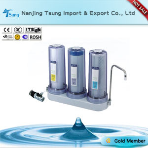 Counter Top Three Stage Water Purifier with Metal Connector pictures & photos