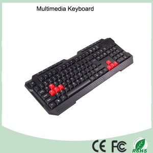 Laser Printing Waterproof Multimedia PC Keyboard (KB-1688-R) pictures & photos