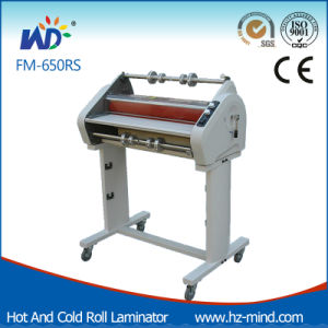 Professional Manufacturer (FM-650RS) Double Side Laminating Cold and Hot Roll Laminator pictures & photos