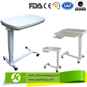 Medical Products Movable Hospital Overbed Table pictures & photos