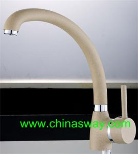 Granite Kitchen Sink Faucet, with Movable Spout, Beige (SW-0834A9-Q11) pictures & photos