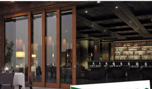 Modern Balcony Low-E Glass Aluminum Sliding Screen Door pictures & photos