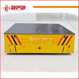 Workshop Material Steerable Transfer Trolley on Cement Floor pictures & photos