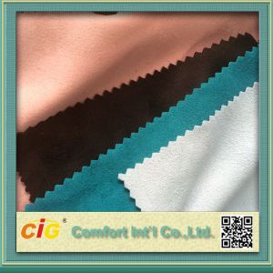 Micro Poly Suede Fabric for Garment Sofa pictures & photos