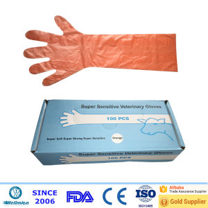 Disposable Plastic PE Long Sleeve Gloves pictures & photos