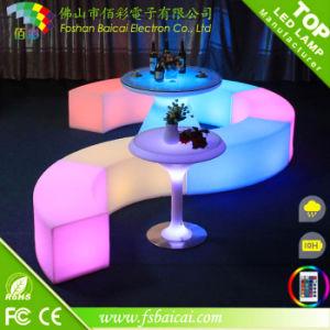 LED Plastic Bar KTV Garden Bench Chair for Wedding pictures & photos