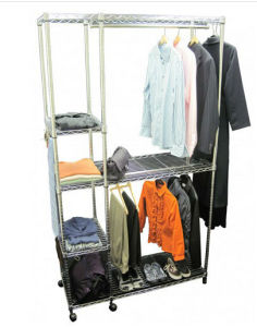 2015 Wardrobe Closet Storage Clothes Rack New Design pictures & photos