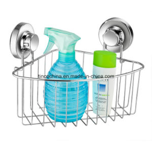 Suction Stainless Steel Corner Rack Bathroom Fitting