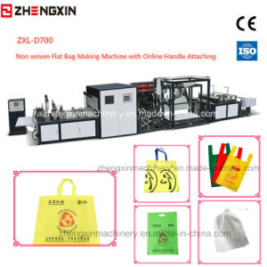 Non Woven Flat Bag Making Machine with Online Handle Attach (4-IN-1) pictures & photos