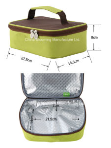 600d Polyester Small Size Shoulder Insulated Cooler Lunch Bag pictures & photos