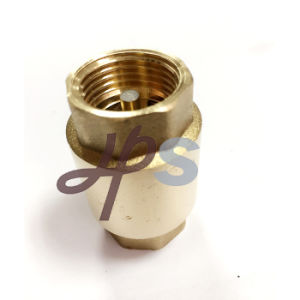 Brass Non Return Vertical Spring Check Valve with Brass Core pictures & photos