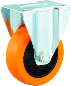 3/4/5 Inch Orange PU Rigid Castor Wheel Medium Duty Industrial Trolley Caster pictures & photos
