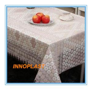 Plastic PVC White Lace Table Cloth pictures & photos