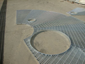 Hot Dipped Galvanized Steel Grating with Hole pictures & photos
