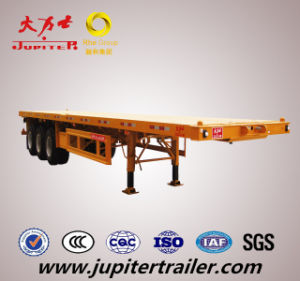 20ft/40ft Flatdeck Container Transport Semi Trailer