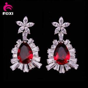 Made in China Fashion Hot Sale CZ Gold Plated Earrings for Women Party pictures & photos