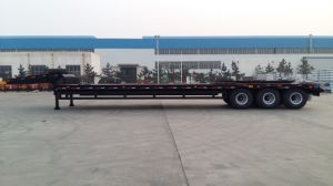 Cimc 60t Low Bed Trailer Three Axles Truck Chassis pictures & photos