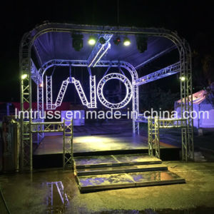 Portable Spigot Truss Stage and Truss Booth with TUV Mark for Small Outdoor Concert pictures & photos
