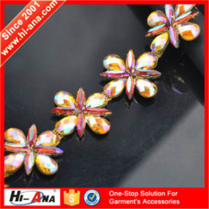 Over 95% Accessories Exported Top Quality Rhinestone Applique Trim pictures & photos