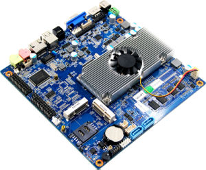 Fanless N2800 Motherboard with 24bit Lvds/3G/WiFi pictures & photos