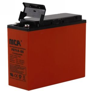 12V 55ah Front Terminal Battery with Ce, UL, ISO pictures & photos
