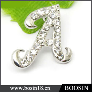 Personized Letter Name Initial Rhinestone Letter Brooch pictures & photos