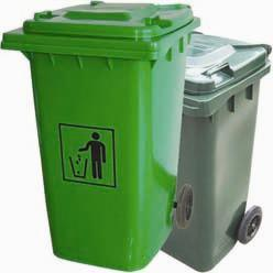 Plastic Rubbish Bin with Wheel High Quality Outdoor pictures & photos