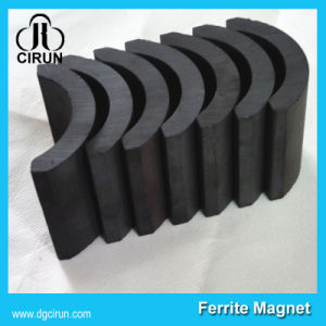 Custom Arc Shape Permanent Ferrite Motor Magnet pictures & photos