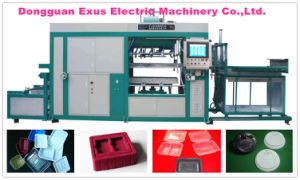 Has Video Plastic Coffee Cup Lid and Plastic Cup Lid Forming Machine for Dome Lid, Flat Lid with Cross pictures & photos