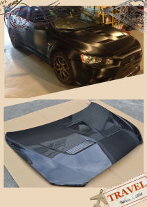Carbon Fiber Hood with Vents for Mitsubishi Lancer Evo X pictures & photos