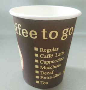 300ml Hot Disposable Single Wall Coffee Paper Cup Po105 pictures & photos