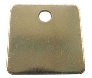 """1 1/4"""" Blank Metal Tag, Brass Tag (1F040)"""