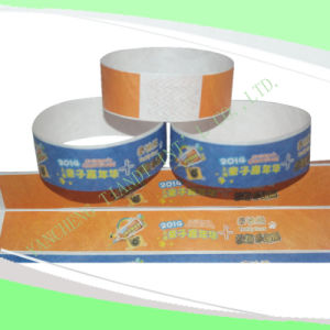 Entertainment Tyvek Customed Cheap Party VIP Paper Wristbands (E3000-1-9) pictures & photos