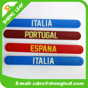 Newest High Quality Customized OEM Silicone Slap Wrist Band pictures & photos