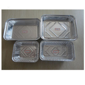 Rectangle Dairy Use for Storage Aluminum Foil Containers pictures & photos