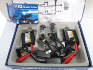 DC 24V 55W H10 HID Lamp (blue and blak wire)