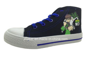 Cool Cartoon High Ankle Children Sneaker (X169-S&B) pictures & photos