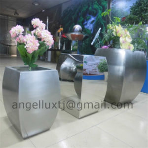 Best Quality Polish Brush Surface Garden Park Shopping Center Stainless Steel Planter Pot pictures & photos