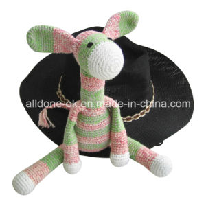 Hand Crochet Donkey Stuffed Animal Toy Doll Baby Gift pictures & photos