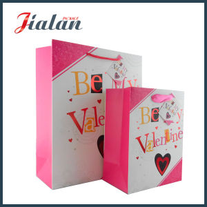 Yellow Logo Printed Custom Valentine`S Day Womans Carry Paper Bag pictures & photos