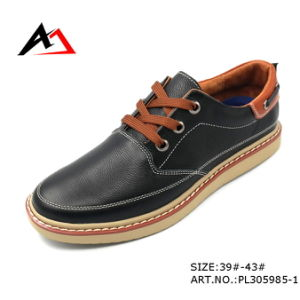 Leather Shoe Casual Breathable Shoes Wholesale Manufacture for Men (AKPX) pictures & photos
