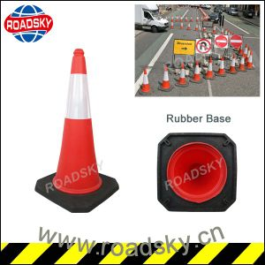 Reflective PE Plastic Road Warning Traffic Cone with Rubber Base pictures & photos