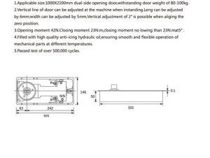 Xc-D3106 Glass Door Hardware Floor Spring pictures & photos