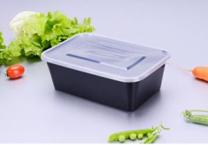 750 Ml Microwave Safe Plastic Disposable Rectangular Food Container pictures & photos