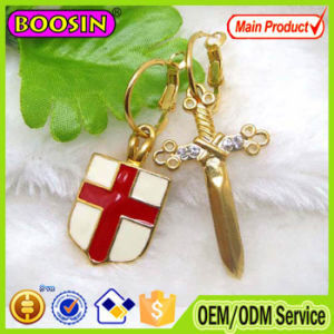 Fashion Design Enamel Shield and Sword Earrings for Men, Gold Earrings for Men #21307 pictures & photos