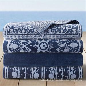 100% Cotton Jacquard Velour High Quality Beach Towel pictures & photos