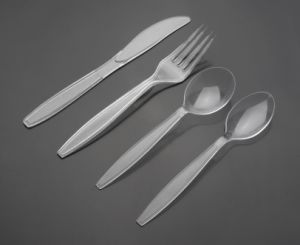 Disposable Plastic Tableware Suit (JX152) pictures & photos