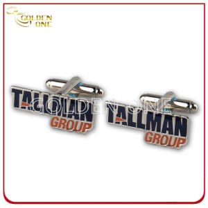 Personalized Metal Soft Enamel Nickel Plated Cuff Link pictures & photos